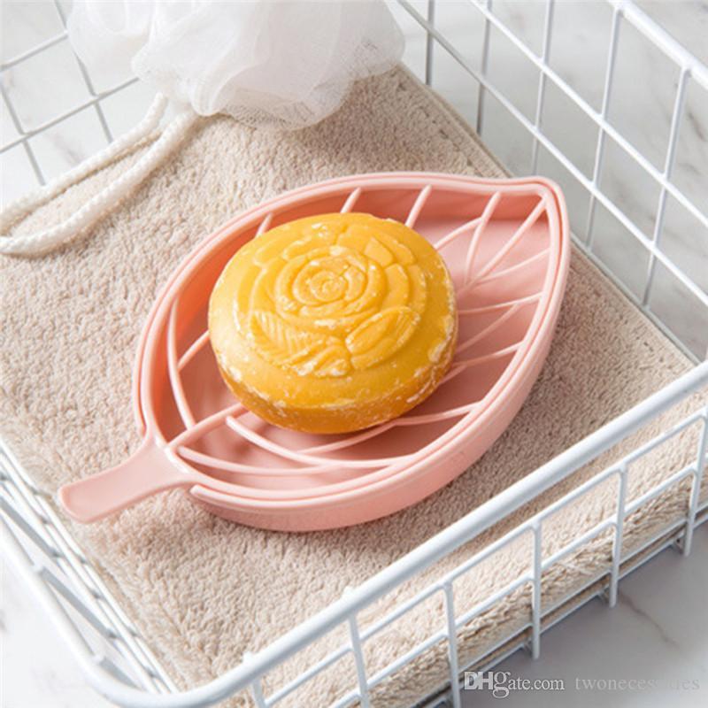 Blattform Seifenhalter Anti-Rutsch-Box Toilette Duschwanne Abtropfgestell Badezimmerasseccoirs Seifenschale Seifenschale Halter