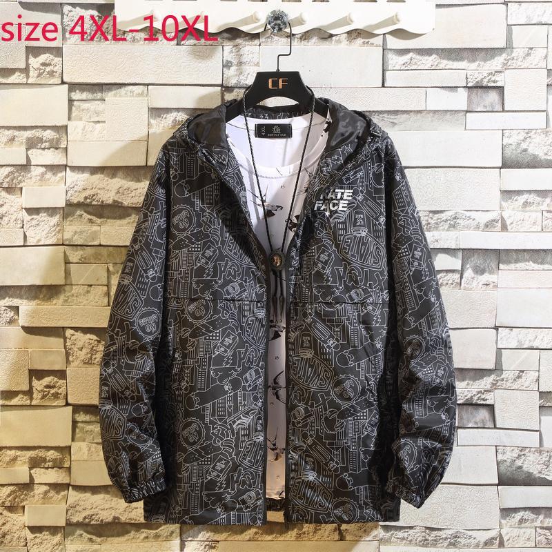 new arrival fashion Extra large Men Clothes Loose Jacket Casual Men autumn spring plus size 4XL 5XL 6XL 7XL 8XL 9XL 10XL