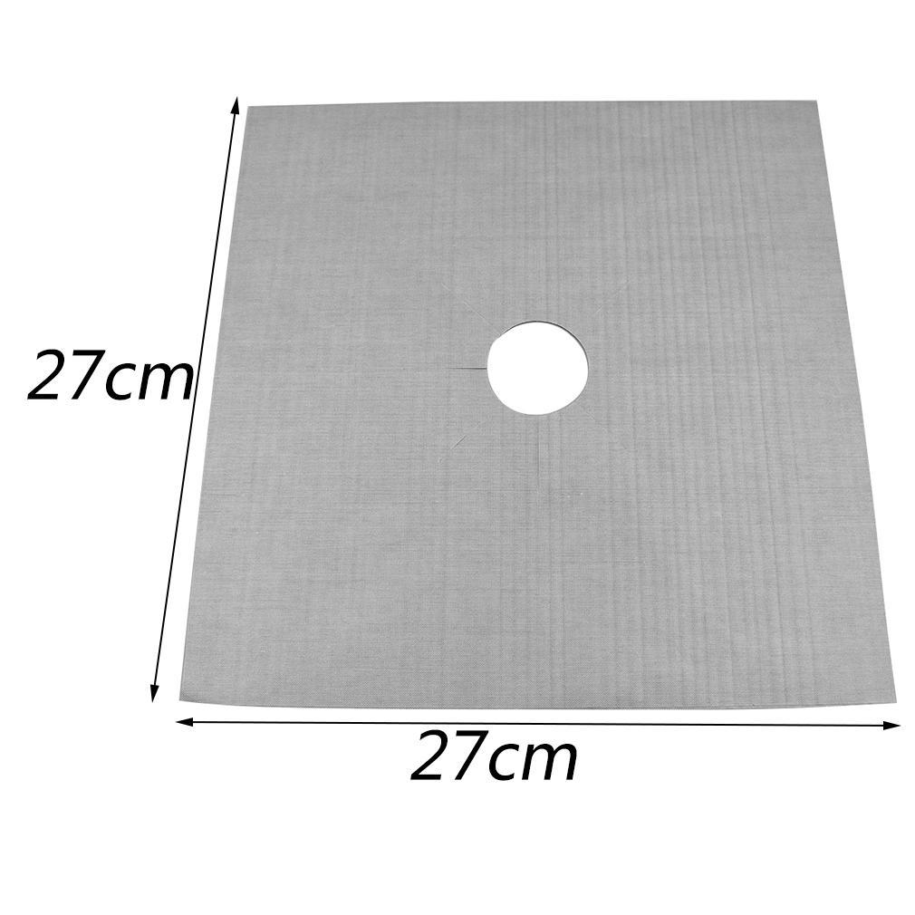 Riutilizzabile di alluminio 4pcs / lot Cucina a gas Protezioni copertura / Liner riutilizzabile antiaderente in silicone in lavastoviglie per la cucina Usa