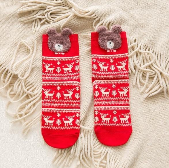Vêtements Noël Print Femmes Mode Designer Chaussettes Featival Winter Style Mignon Femme Vêtements Rouge Casual Couleur