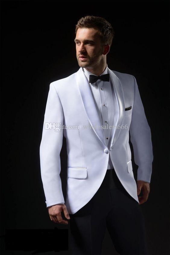 Garçons à la mode châle revers marié Tuxedos One Button Hommes Costumes Mariage / Prom / Dîner Meilleur Homme Blazer (Veste + Pantalon + Cravate) W327