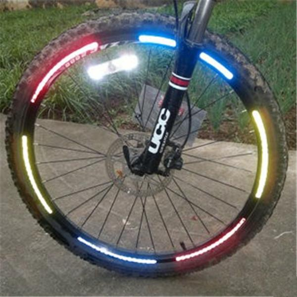 Envío Gratis 2017 Hot New 32 * Bicicleta Bicicleta Ciclismo DIY Rueda Cinta reflectante Rueda Luces para montar seguridad en la noche