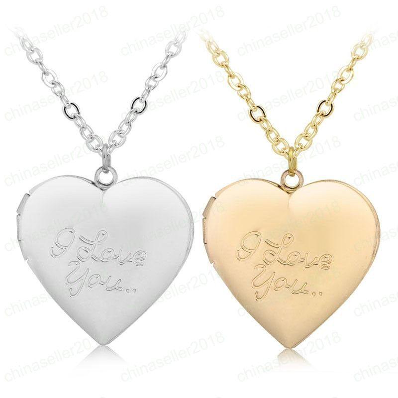I Love You Love necklace Locket pendant Gold Chain Love Heart Secret Message living memory Lockets designer necklace designer jewelry