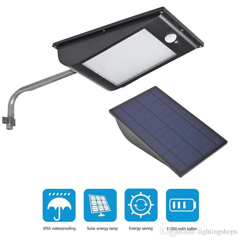 Luce della parete del LED luci solari Outdoor Power LED di alta qualità del sensore di movimento senza fili 11000mAh Street Lamp