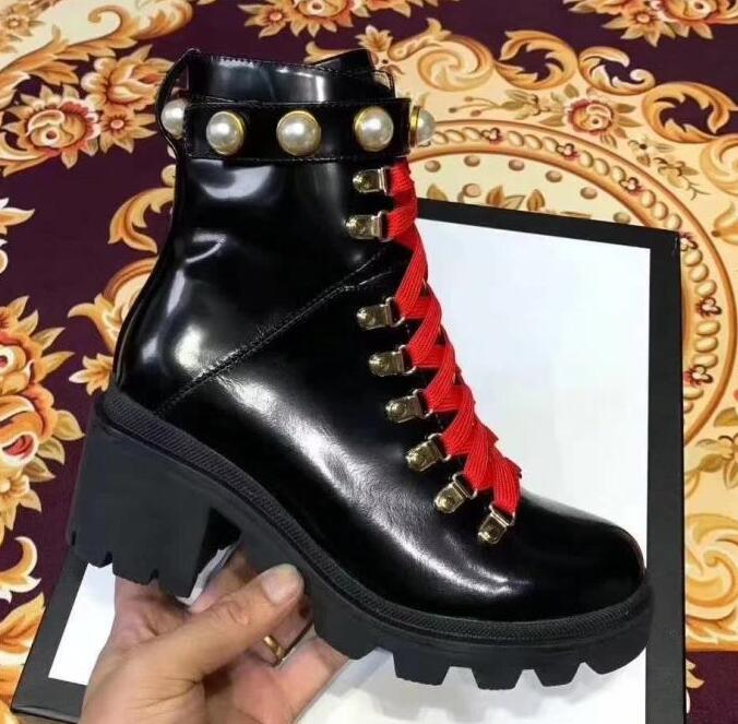 Brand New High Top Boots Womens Bee Flange Bottom Martin Army Winter Snow Knight Cow Leather Boots Size 35-40