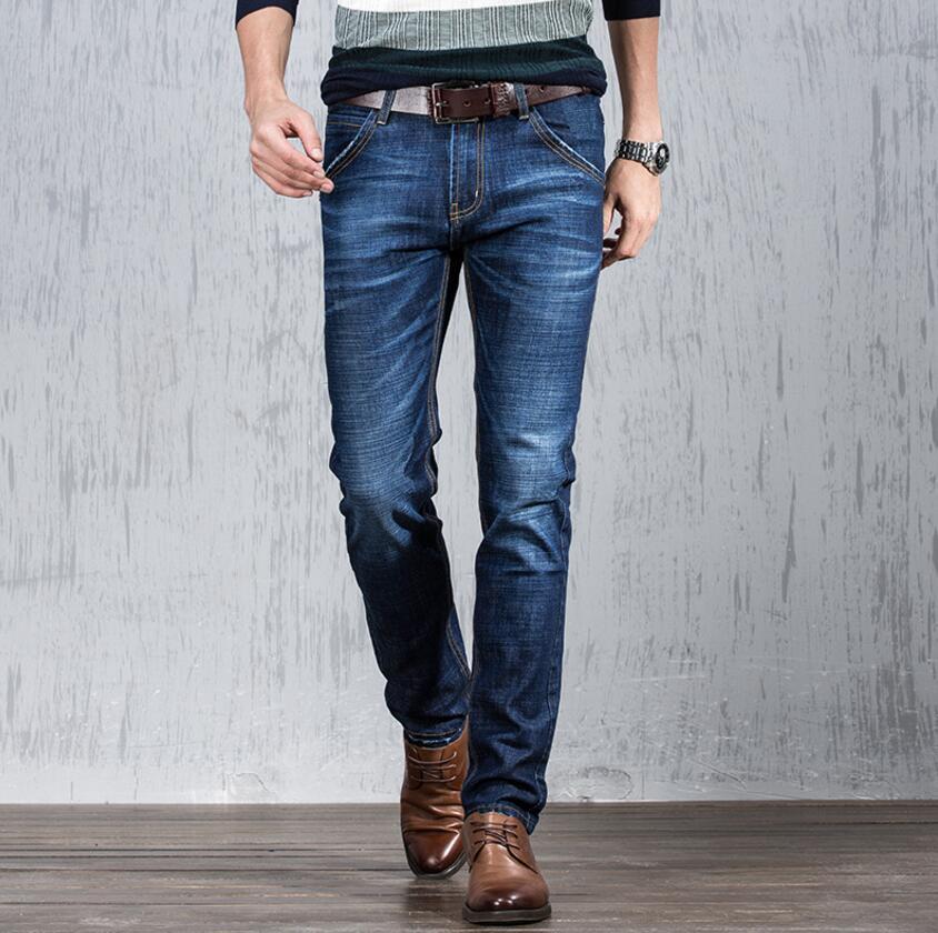 2019 ventas informal jeans hombres de gran fábrica de verano de ultra delgada Tencel elástica suelta tubo recto mediados de cintura directos