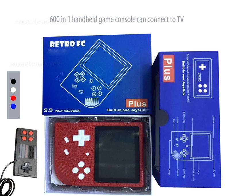 Videogioco portatile Console di gioco RETRO FC Può memorizzare 600 giochi Supporto Doppio Gioco Uscita AV 3.5 Schermo di visualizzazione Lettore di gioco VS PVP PXP3 Ps4 sup