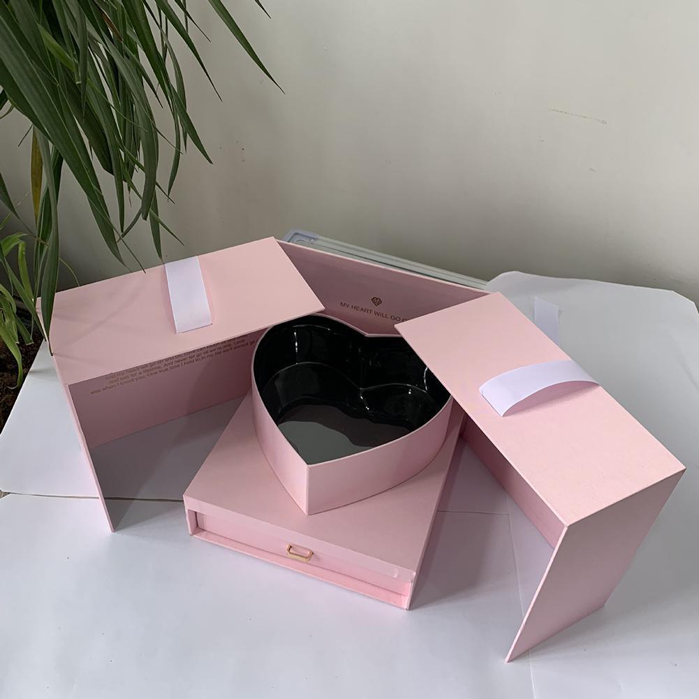 Blumen-Geschenk-Kasten-DIY-Würfel-Form-Geschenk-Box Innovative Anniversary Set für Geburtstag Hochzeit und Valentinstag
