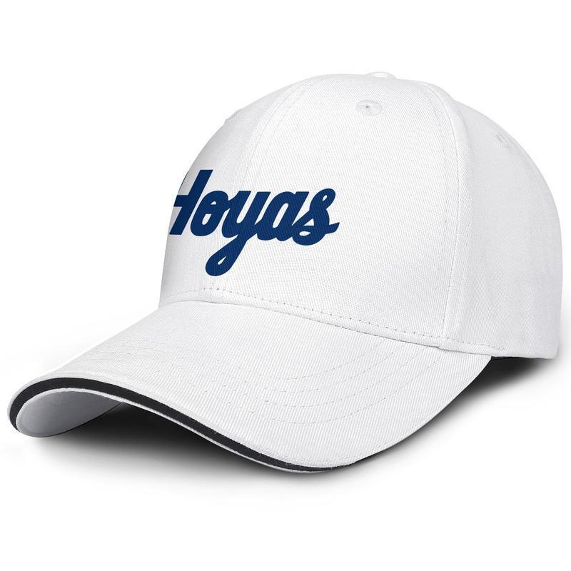Georgetown Hoyas basketball wordmark logo Baseball adjustable Sandwich Hat Fit Blank Original cap Basketball Blue Logo USA flag
