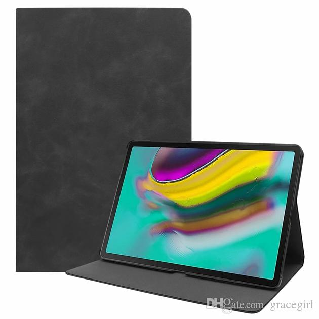 For Samsung Galaxy Tab S5e 10.5 T720 T725 Tablet Retro Matt Wallet Leather Case Luxury Sleep & Wake Up Stand Magnetic Smart Skin Cover 1pcs