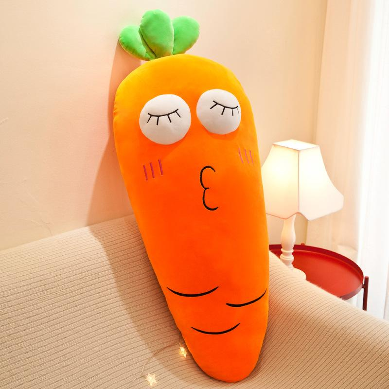 100cm muy linda expresión suave rábano zanahoria relleno de almohadas Hold juguete de peluche decoración del hogar regalo [Humor] chica del cumpleaños