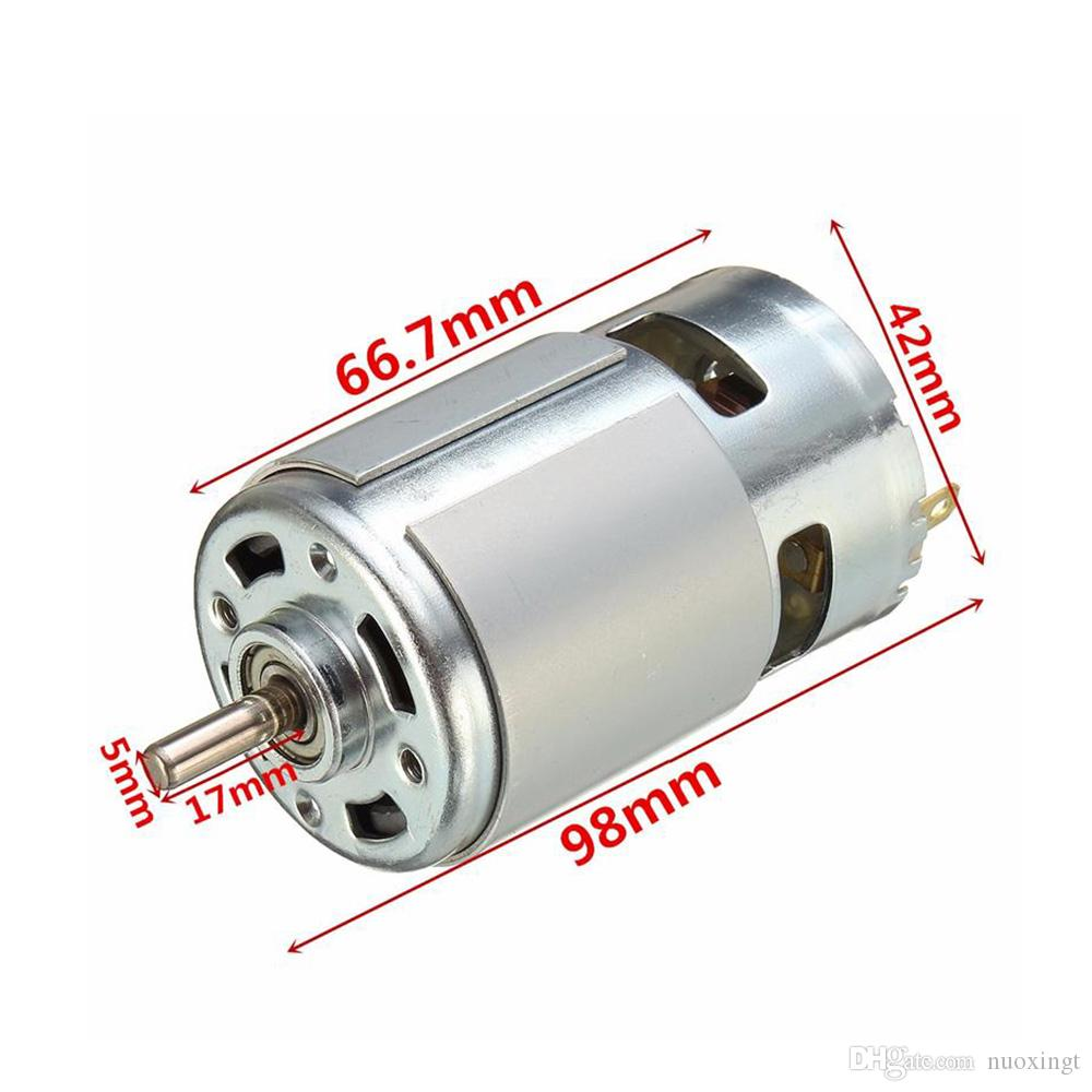 775 DC 12V 12000rmp Motor Ball Bearing Large Torque High Power Low Noise 2x