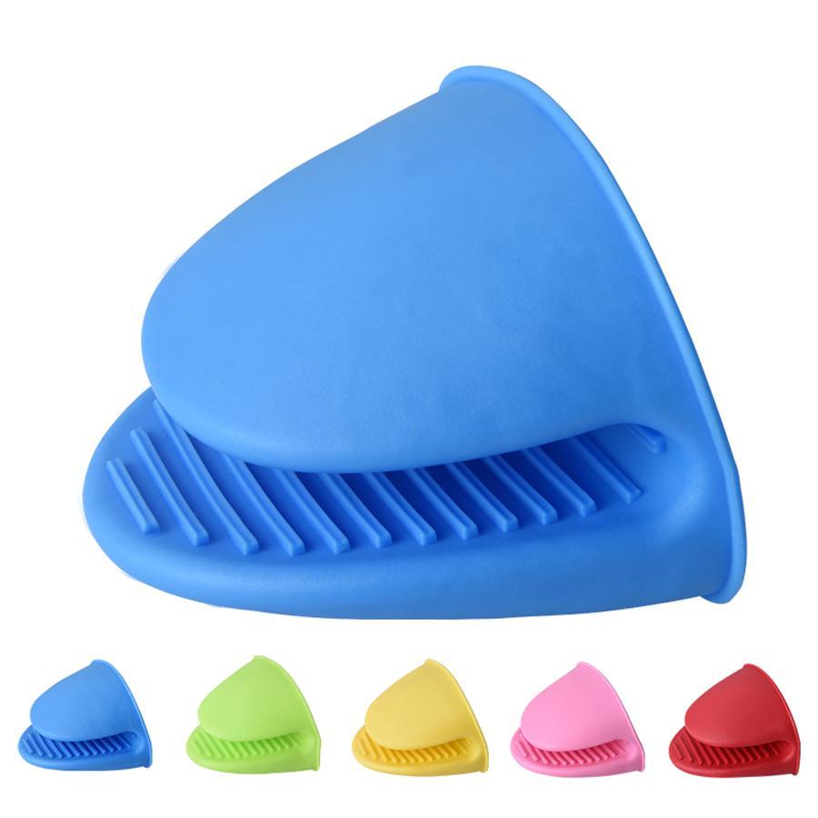 Silicone calor luvas resistentes a clipes de isolação não Stick Anti-derrapante Pot Bowel Holder Clip Cozinhar Forno Mitts JK2005