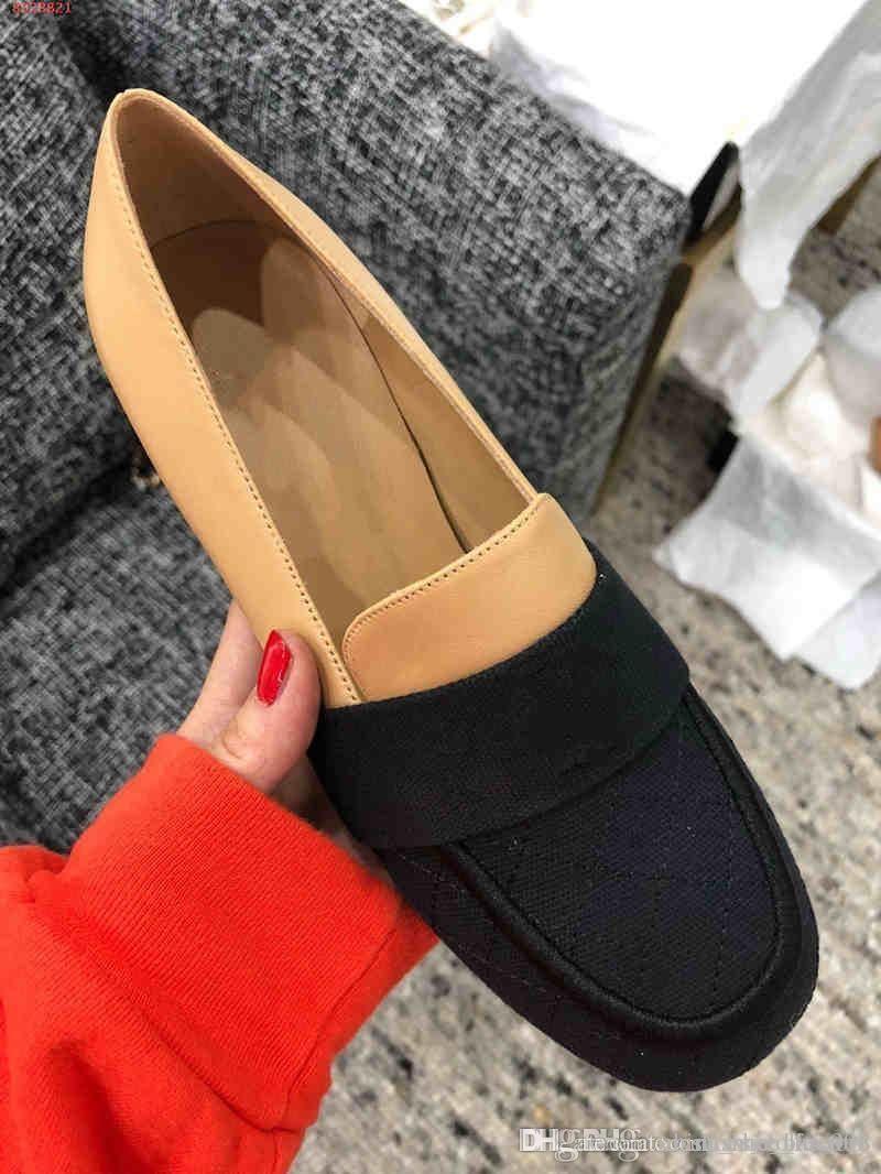 2019 nuove donne del vestito scarpe stile Xiao Xiangfeng singolo scarpe di fascia alta stampati scarpe classiche con i tacchi alti moda delicato