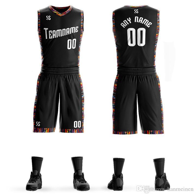 عرف الرجال كلية كرة السلة جيرسي مجموعات موحدة DIY أطقم بنين الملابس الرياضية تنفس تخصيص كلية فريق كرة السلة Jersseys