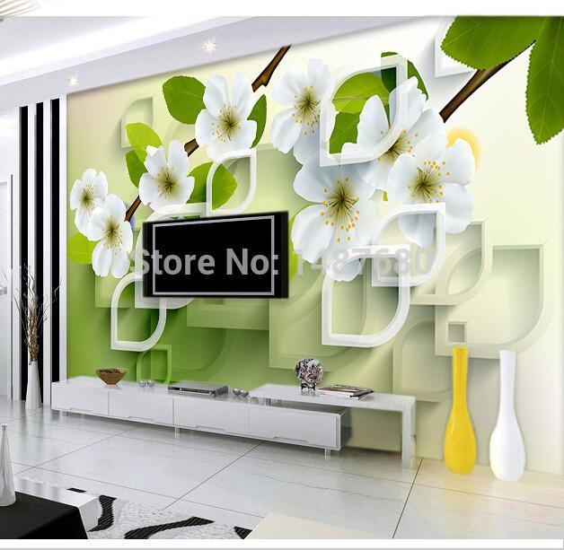Toute taille 3D fleurs papier peint peinture murale 3D personnalisée Grande chambre murale salon photo Fonds d'écran de fond TV