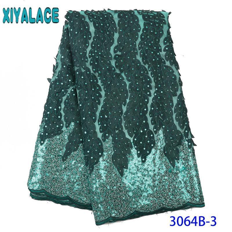 Tessuto di pizzo nigeriano 2020 merletto di alta qualità Nuovo paillettes tessuto Mesh francesi tulle merletti con paillettes per le donne KS3064B
