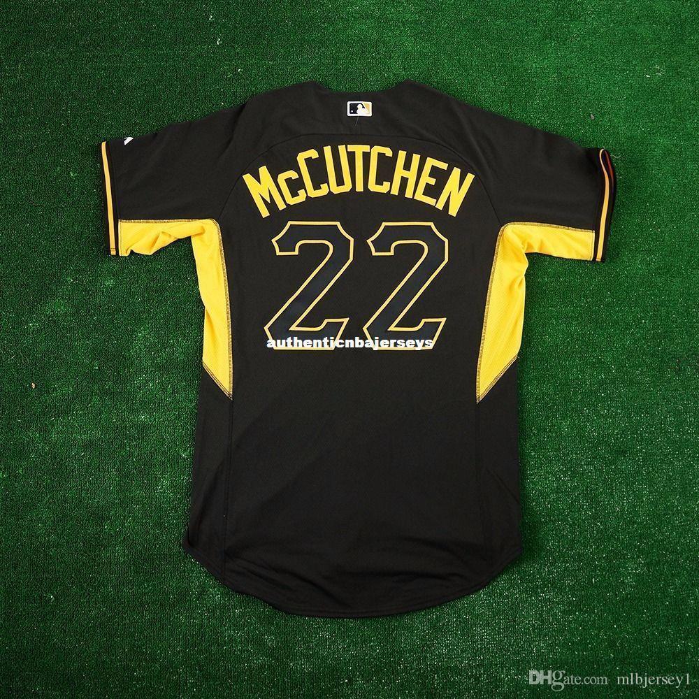 MAJESTIC # 22 LG McCutchen PITTSBURGH BP Coolbase Jersey Mens cucito all'ingrosso grande e grosso formato XS-6XL pullover di baseball economici