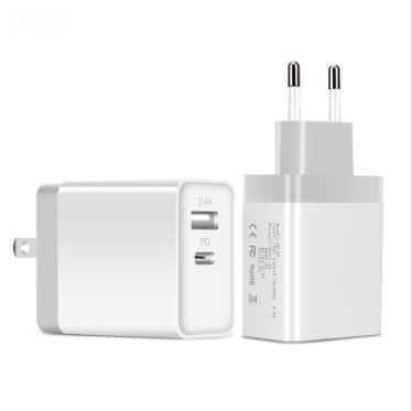 아이폰 삼성에 대한 미국 영국 EU 플러그 EU 플러그 USB 어댑터 5V의 USB 벽 충전기 빠른 충전기 듀얼 USB 타입 C 출력