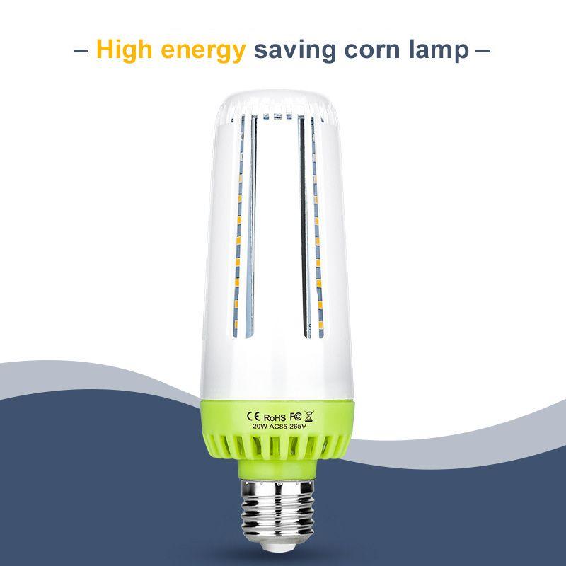 Ampoule LED E27 Bulb de maïs 5pc / lot 10W 15W 20W Ampoule LED Lampe Bombilla Smart IC Home Light Ampoule Pas de scintillement Économie d'énergie