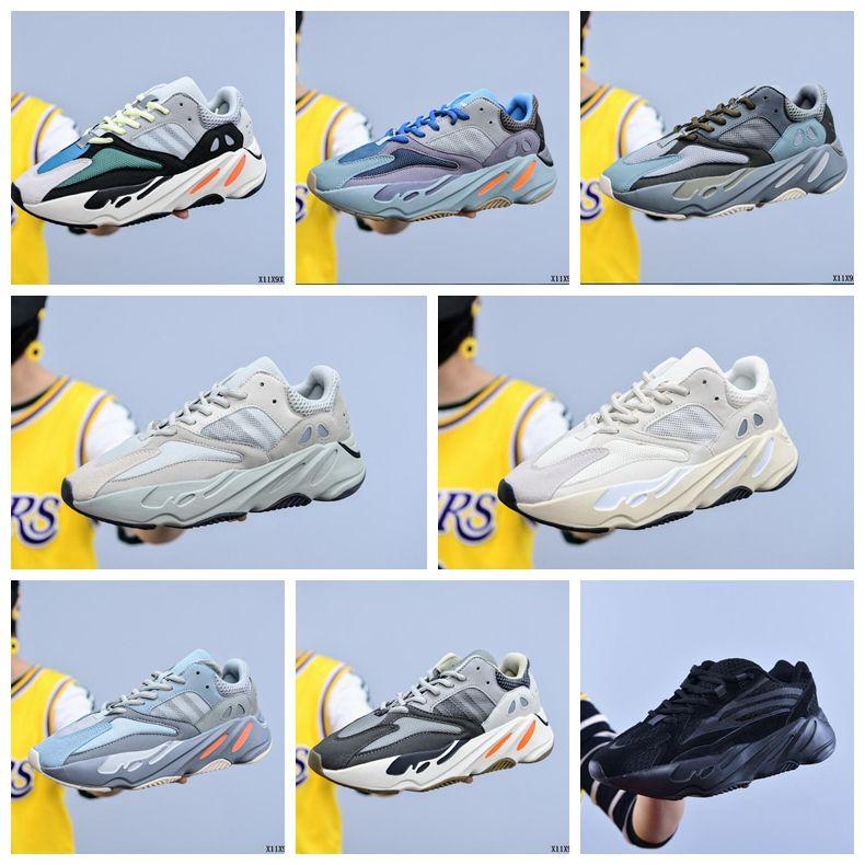700 Runner 2020 New Kanye orange Phosphor Knochenmens-Frauen-Carbon-Teal Blau Statisch Sport Trägheit Vanta Laufschuhe Stylist Sneakers