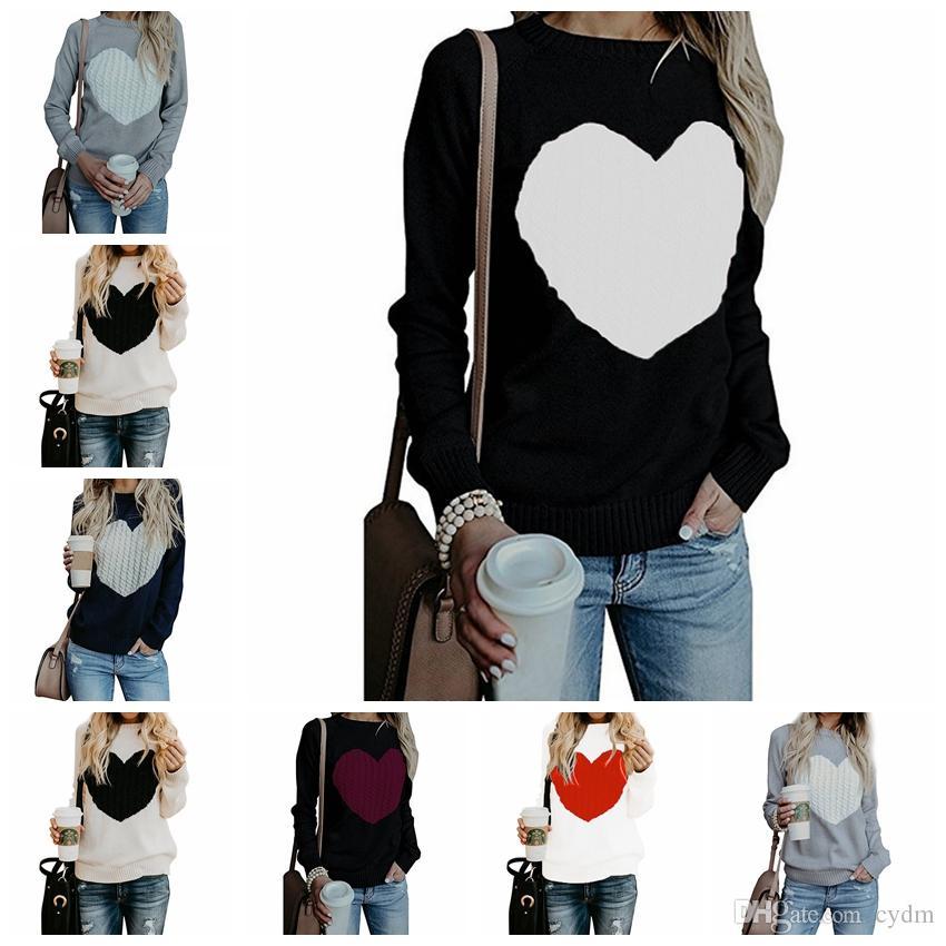 Sweaters de mode Europe America Automne Hiver Explosion Modèles Love Sweaters, S, M, L, XL, Support Batch mixte