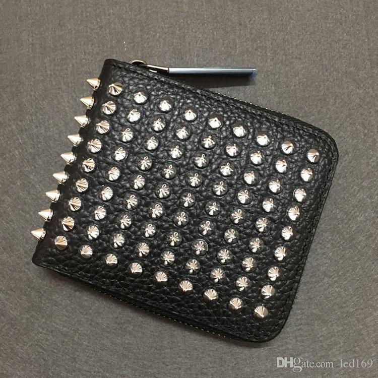 París Estilo Color Rojo Diseñadores de abajo para hombre Cartera de cuero de hombre Titular de la tarjeta de crédito Bolsa Unisex Wallets Luxury Women Key Wallet Monederos Boxbag
