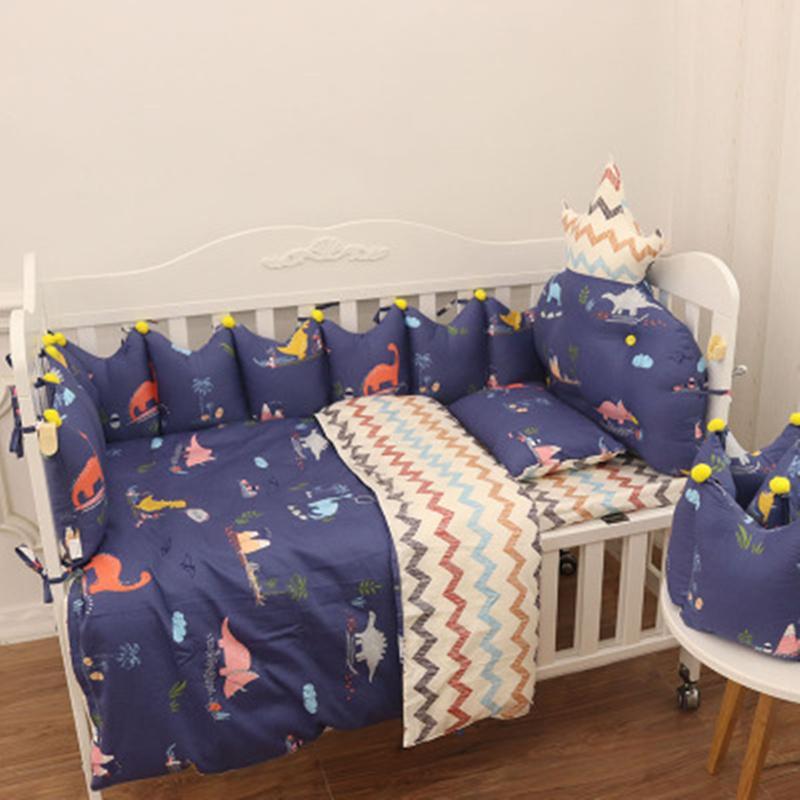 5 piezas bebé vivero cuna del lecho del edredón almohada de parachoques de almohada