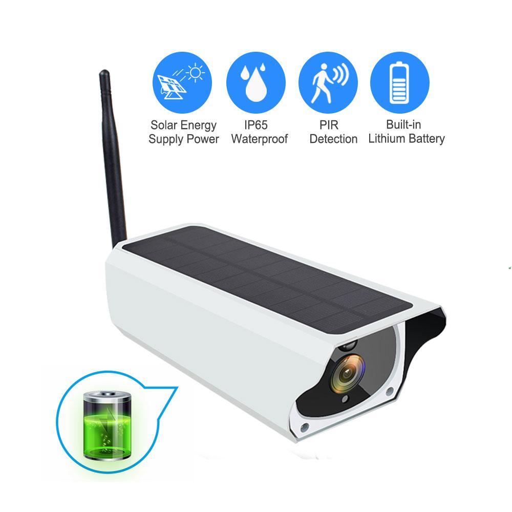 배터리 무선 보안 카메라 PIR 모션 감지 총알 감시를 충전 태양 광 무선 IP 카메라 1080P HD 야외