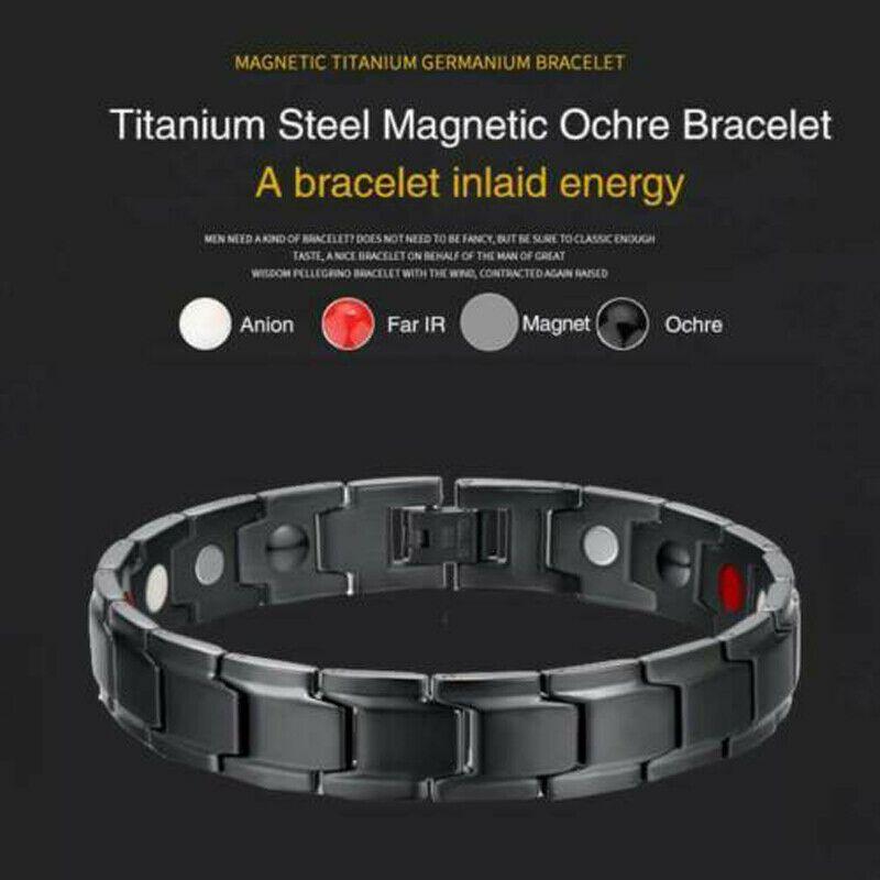 Hologram Bilezik Terapötik Enerji Şifalı Bilezik Paslanmaz Çelik Manyetik Terapi