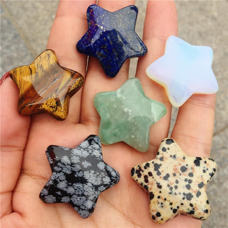 2Pcs Beautiful star crystal healing stone for valentine's day gift natural crystal craft crystal gem polishing treatment