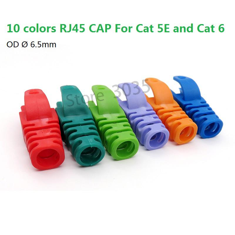 10pcs RJ45 Network Cable Plug Boots Cap Cat5 Cat6 NEW
