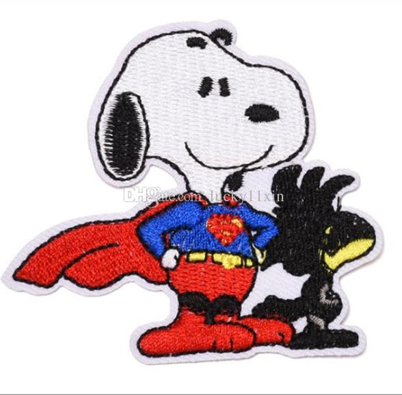 Cute Dog Snoopy Woodstock Iron on Embroidered cartoon patch Shirt Kids Gift baby shirt bag trousers coat Decorate