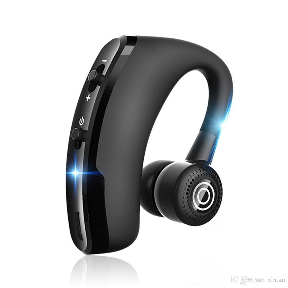 Nuevo control de voz inalámbrico Música Deportes Bluetooth 4.1 Auricular manos libres Auriculares Bluetooth HiFi 3D Ear Bud