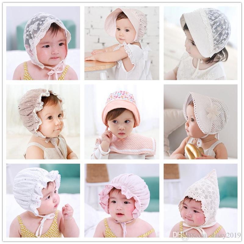 Casquillo del neumático del bebé fresco de la pajarita del bebé de la gorrita tejida dulce del verano Años del palacio de la princesa Hat de 33 años