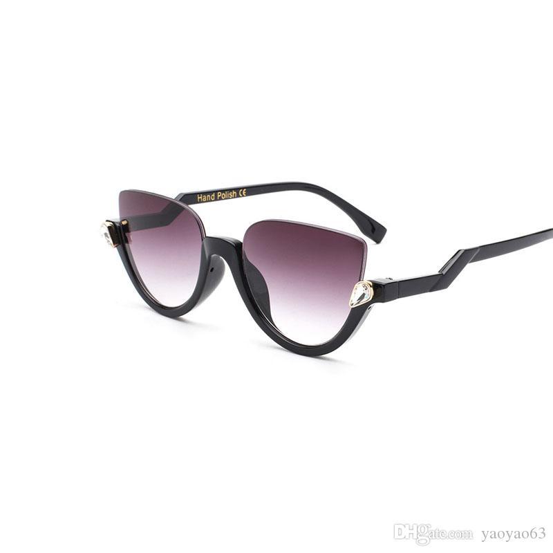 Medio capítulo retro gafas de sol gafas de sol de moda las gafas de sol de las mujeres de la tendencia Beach