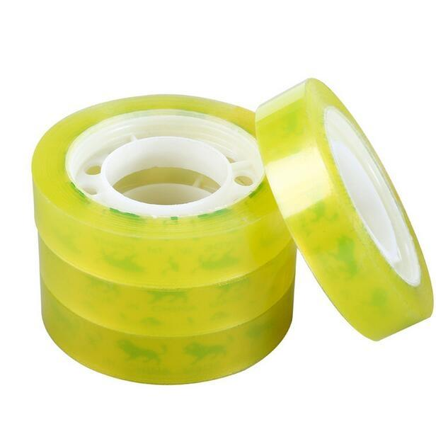 Office Stationery Adhesive Tape Self-Adhesive Student Tape Learning Office Supplies Transparent Small Tapes wholesale free shipping 2016