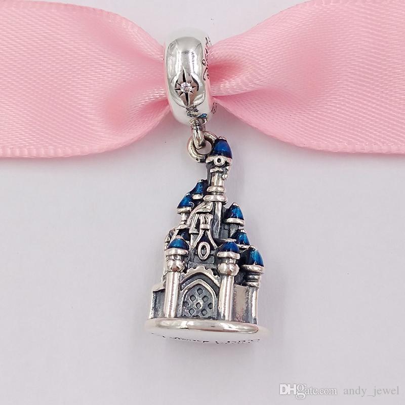 Autentiche 925 perline in argento sterling 925 DSN Paris Castle Charms adatti collana di braccialetti di gioielli in stile Pandora europeo 797151In164