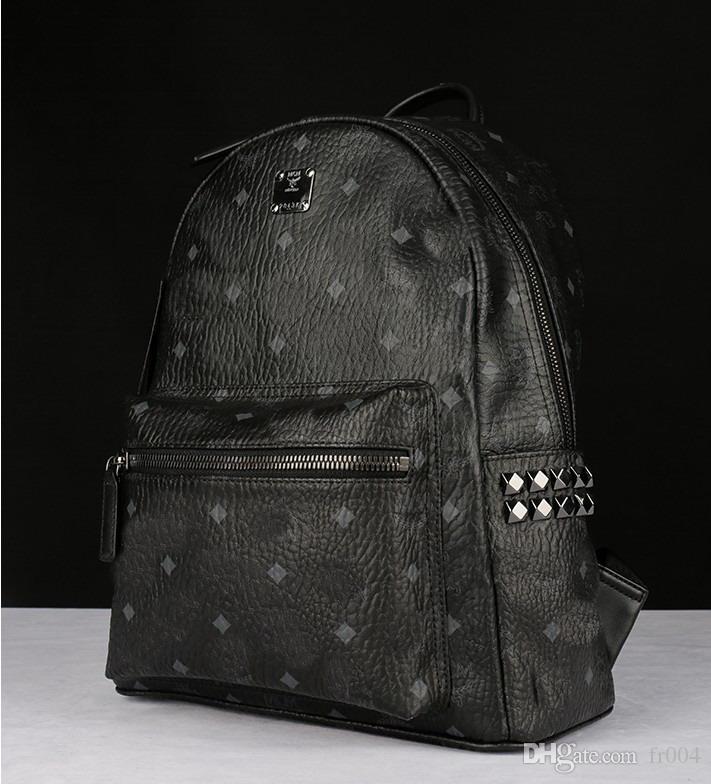 2020 Cuero Negro M Brown color de alta calidad, hombres, mujeres famosas mochilas Mochila señora de las mujeres de los hombres de la escuela bolsas mochila grande de tamaño pequeño
