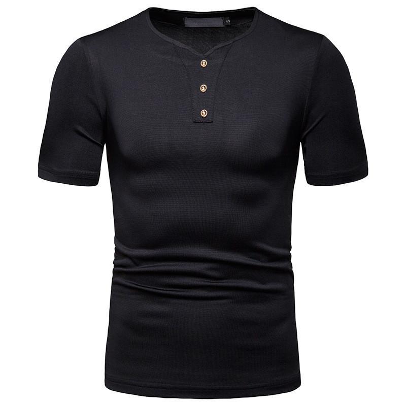 Summer Mens Designer Clothing V Neck Short Sleeved Polo Shirts homme Men Solid Color Collar Fashion Clothes