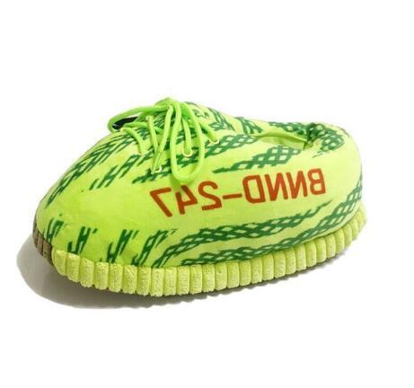 Hot Sale-PPER unisexe Taille 35-43 chaud Pantoufles Femmes Vert Intérieur Snug Sneaker Réchauffez Maison Diapositives étage
