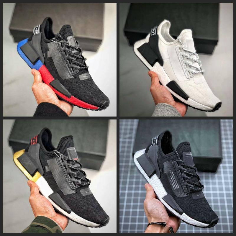 2020 New NMD R1 V2 Runner Running Shoes Primeknit R Black White nmds designer men mens sports sneakers De Chaussures 36-45