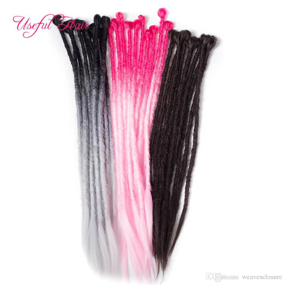 24 pulgadas de largo de color 105 Jumbo pelo sintético de ganchillo Trenzas Ombre Hair Braiding Azul Rosa gris africano de las extensiones del pelo