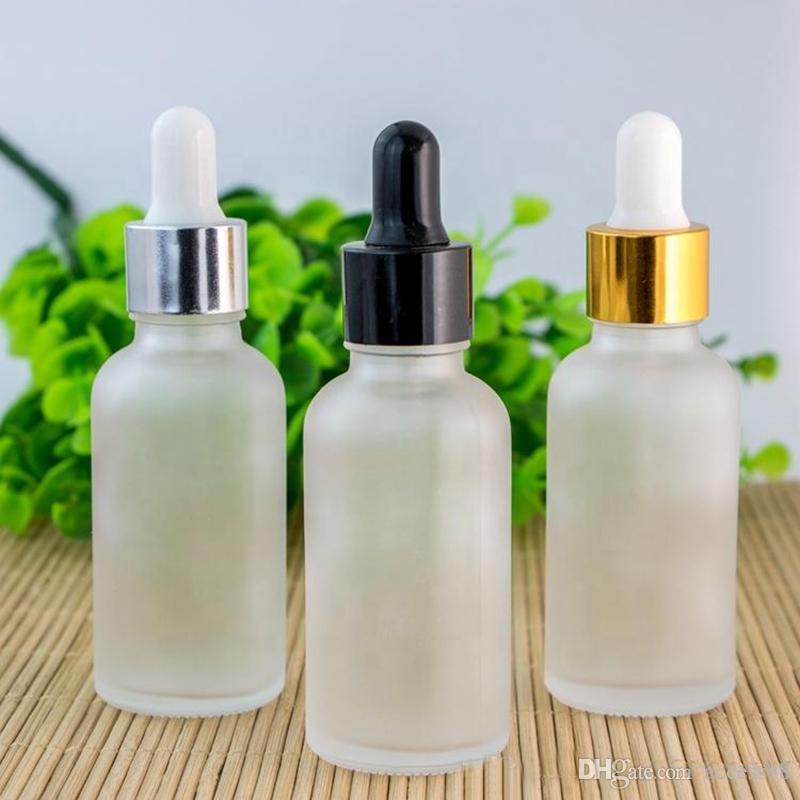Vidrio botellas de aceite esencial de aromaterapia botella de 30ml clara helada de contenedores de vidrio con gotero Liquid E pipeta en Stock