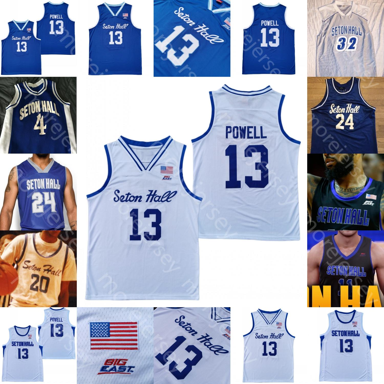 Custom Seton Hall Basquetebol Jersey NCAA College Sandro MamukelaShvili Myles Powell Quincy McKnight Rhoden Reynolds Gill Ike Obiagu Nelson