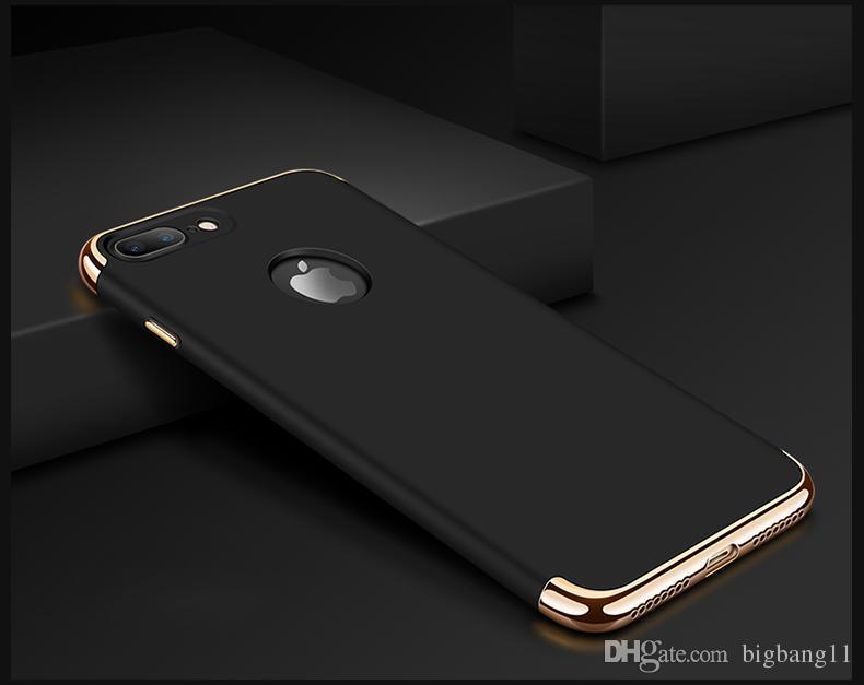좋은 품질 아이폰 7에 대 한 매우 얇은 Shockproof 3 in 1 전신 하드 전기 도금 고무 코팅 iphone7 5 6 6 플러스에 대 한 케이스 커버