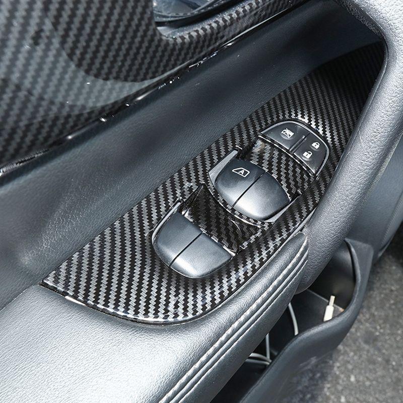 Pour Nissan X-Trail Xtrail T32 Rogue 2014-2017 2018 ABS fenêtre Panneau de commande en verre Ascenseur Commutateur Cover Version Car Styling Accessoires