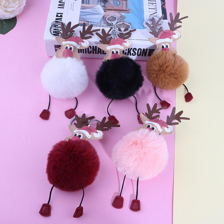 2020 Hot Sale Creative Christmas Elk Plush Keychain Keyring Fashion Student Couple Gift Designer Key Chain Cartoon Bag Pendant Best Friend Gifts From A41132419870118 1 66 Dhgate Com