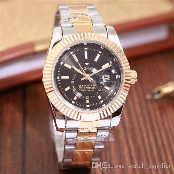 2020 relogio masculino mens orologi moda wist lusso quadrante nero con il calendario in pelle bracklet Chiusura Maestro Maschio giftluxury Mens Watches