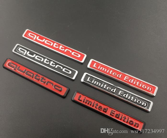الجملة 3D المعادن كواترو طبعة محدودة السيارات سيارة ملصق شارة ملصق للدراجات النارية ملصقات شعار لكاواساكي هارل